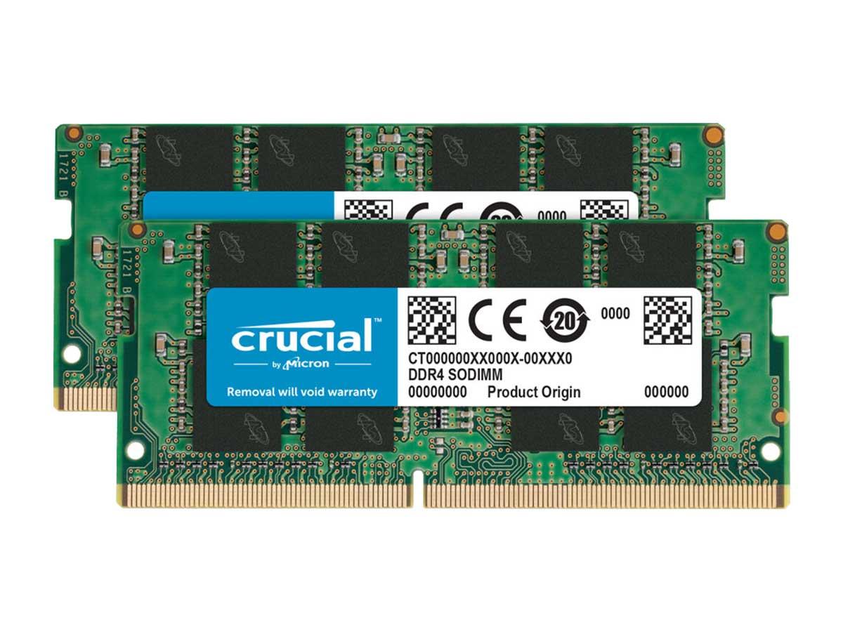 Crucial ECC DDR4 16GB 2666MHz Dual channel CL19 SODIMM RAM